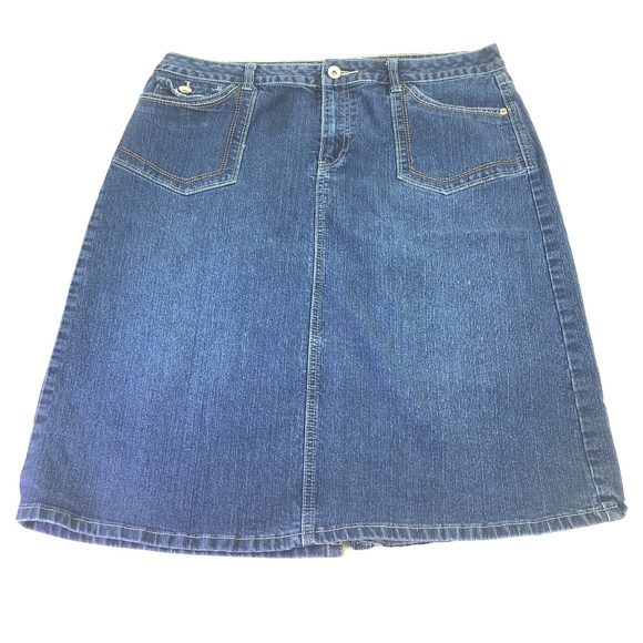 f087f584253 Cato Dresses   Skirts - Cato Women s Dark Wash Jean Skirt Sz ...